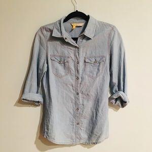Zara   Chambray Button Down Shirt